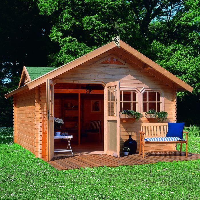 Abri de jardin bois 19 10 m2 DODERIC 4 40mm L… Achat