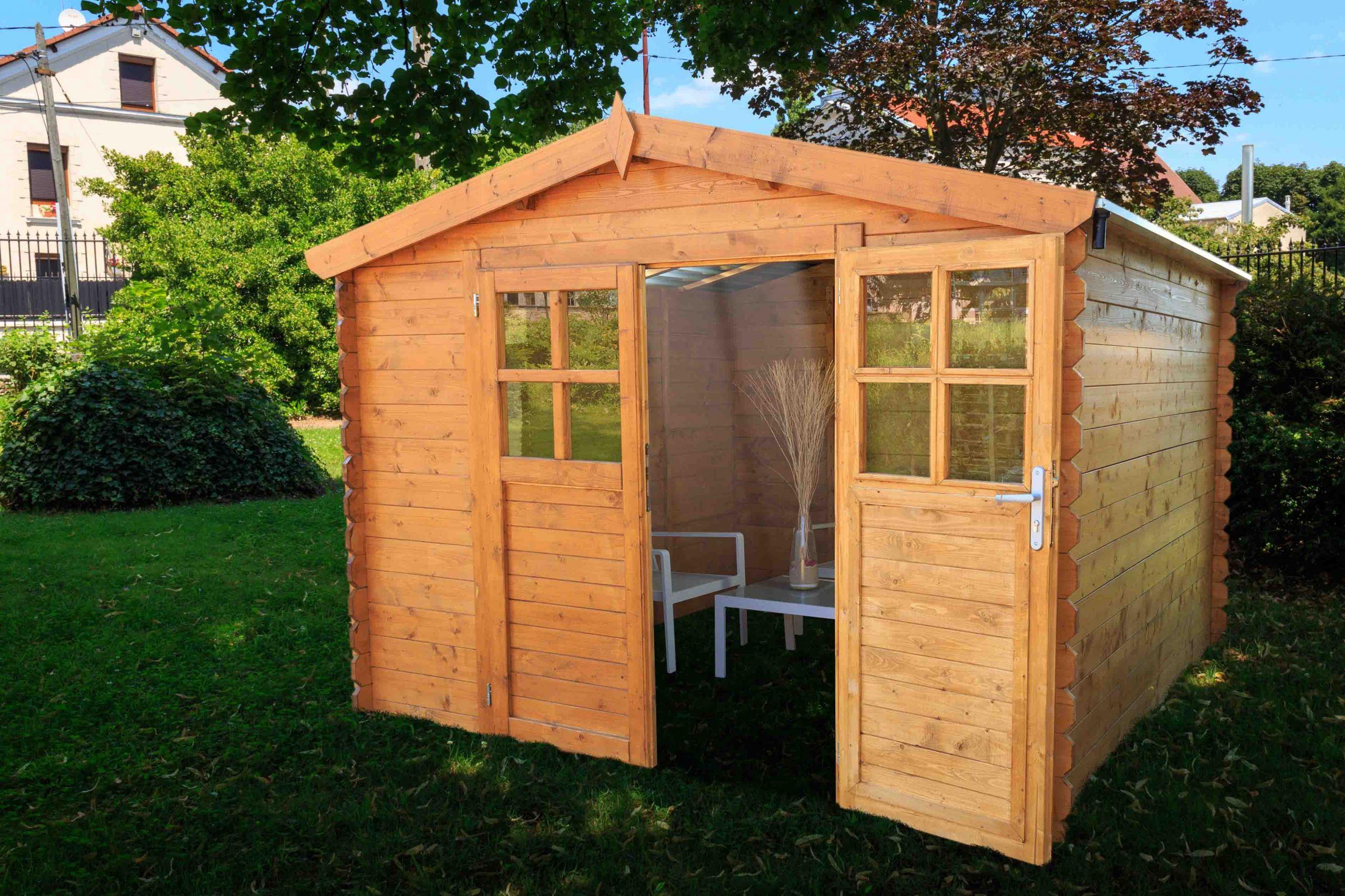 Abri de jardin en bois SOLEIL 3x3 avec toit transparent