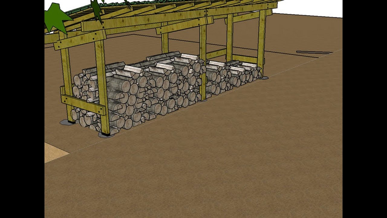 Construire un Abri pour le Bois de Chauffage Explications