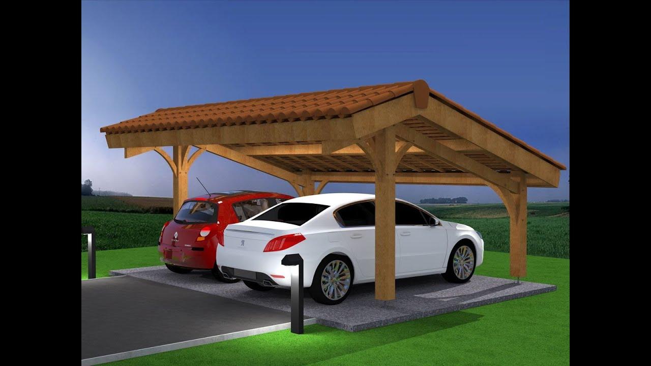 Démo montage abri voiture bois carport 2 places en kit