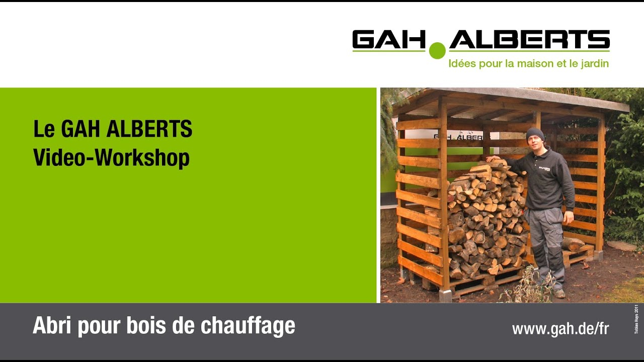 GAH Alberts Abri pour bois de chauffage