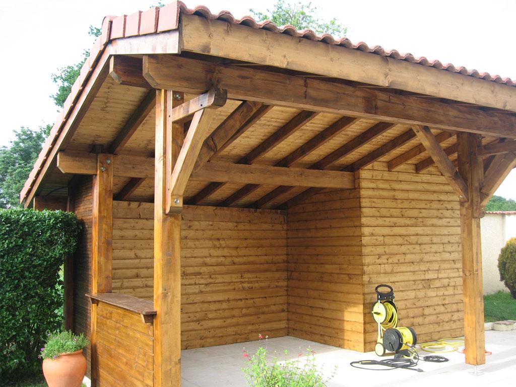 Maison ossature bois abris jardin piscine voiture Voiron