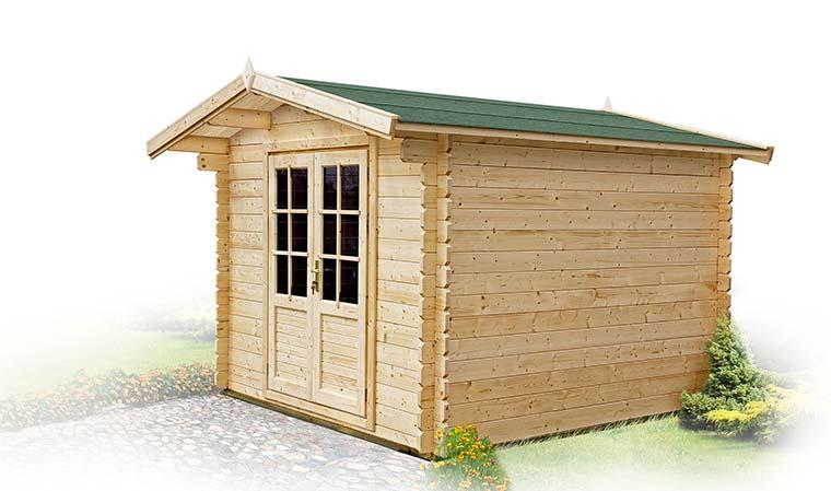 Chalet de jardin en kit 9 m2 fabriqué bois massif
