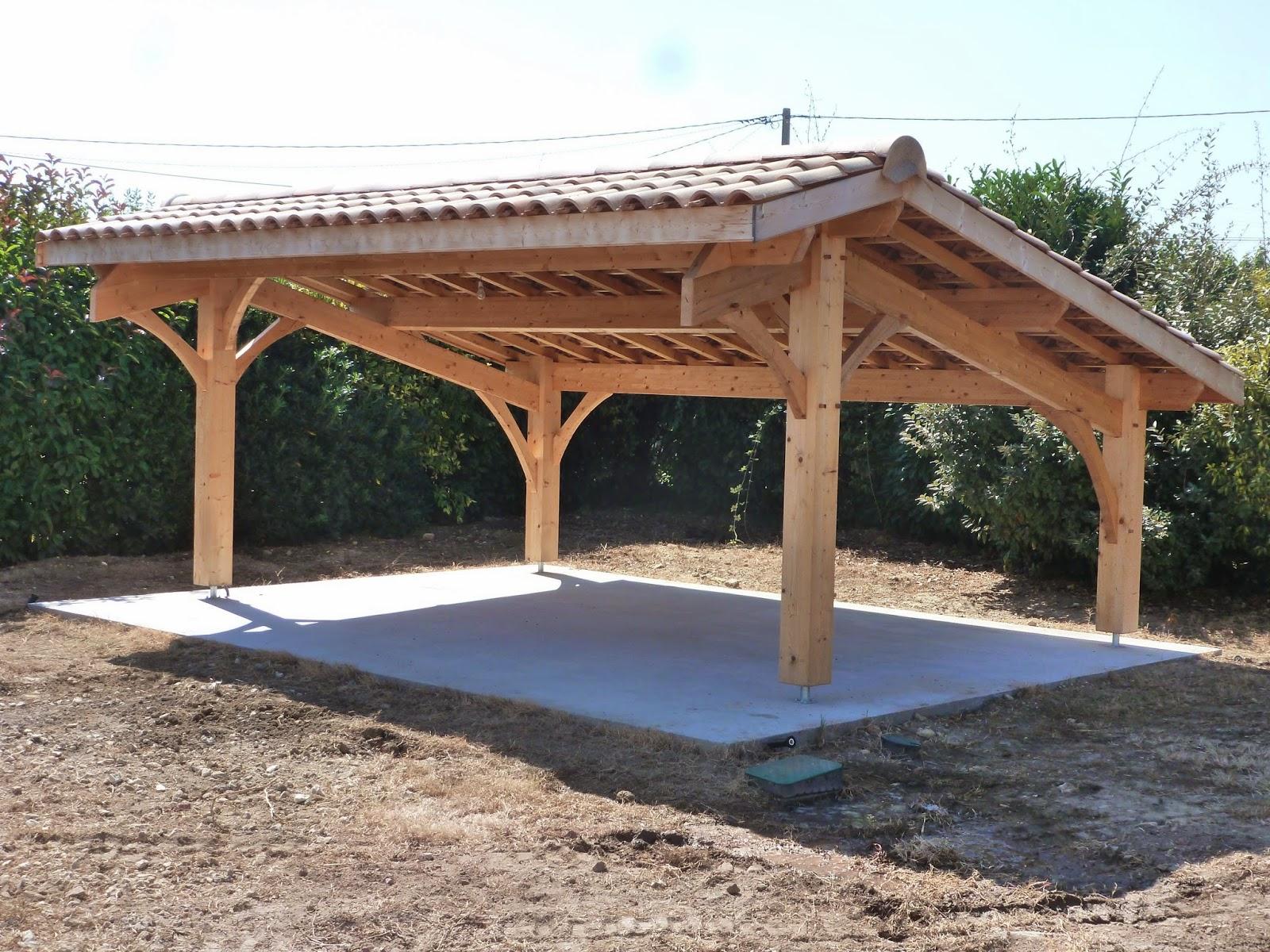 Abri Bois En Kit Construction D Un Carport Bois 2 Voitures