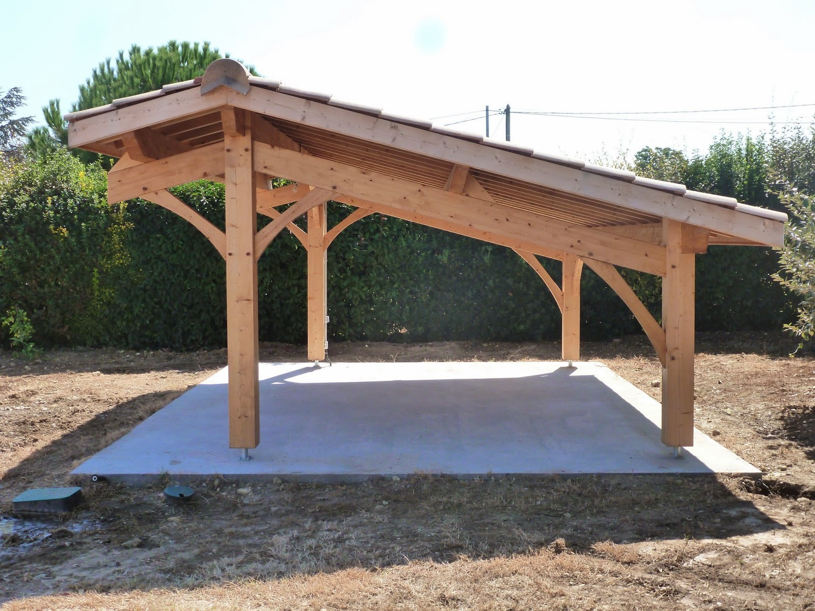 Construction d un carport bois 2 voitures