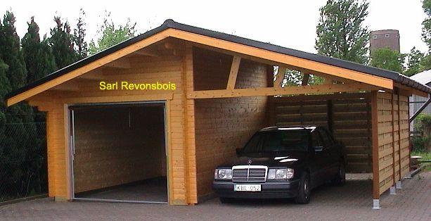 Garage bois et abris voiture vendu en kits