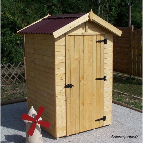 Abri de jardin bois 2m² extérieur petite taille cabine