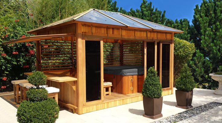 Abri de spa en bois pour aménager son espace bien être
