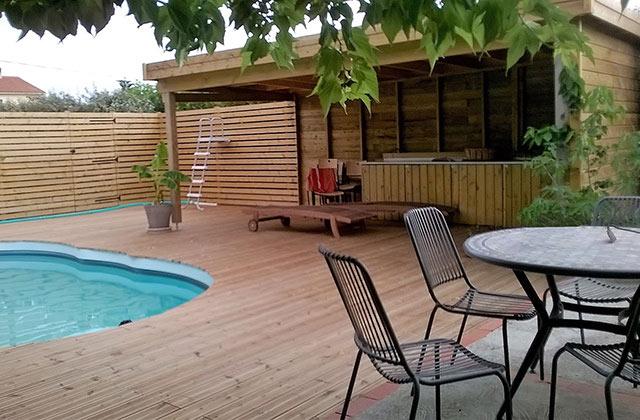 Abri jardin extension bois SGE Bois au Boulou prés de