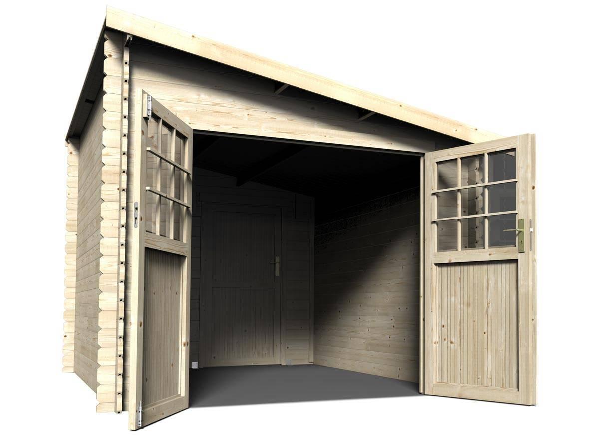 Abri de jardin bois mono pente 28 mm 7 30 m²