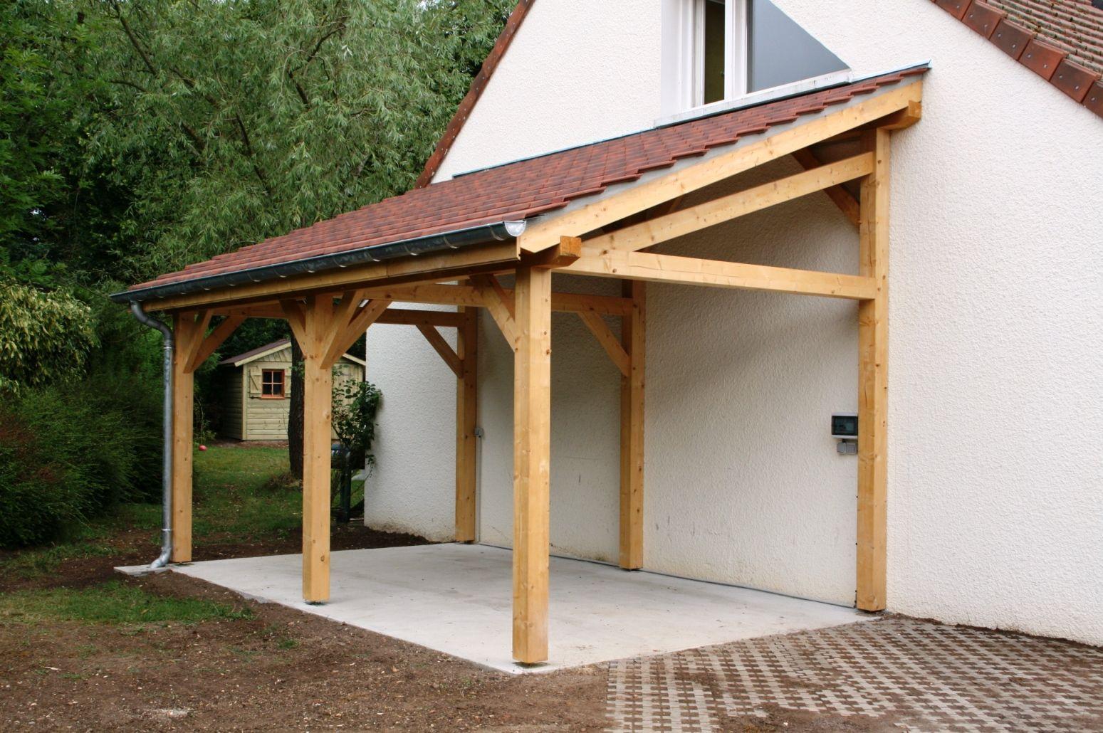 Garage 1 pente 2 70mx7 00m Cerisier abris de jardin en
