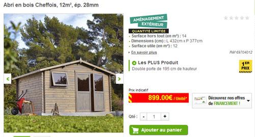 Abri de jardin bois 12m2 Cabanes abri jardin