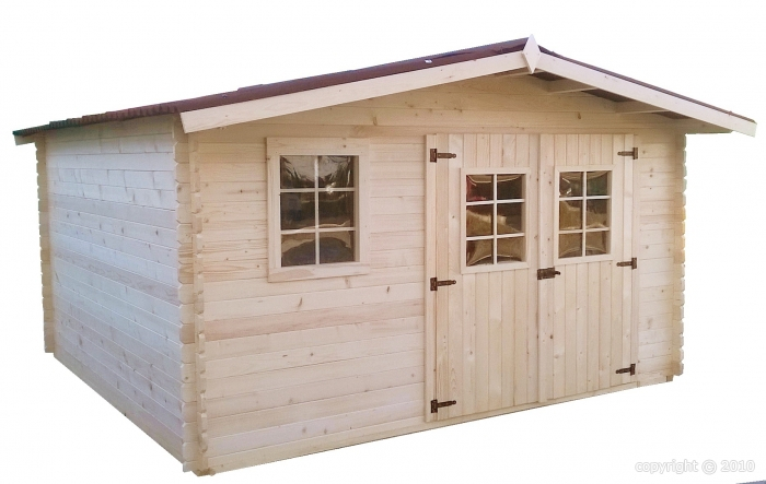 abri de jardin en bois 4x3 m 12m2 GARLABAN avec 5 L de