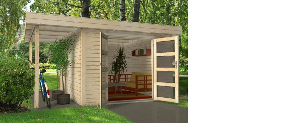 Abri de jardin toit plat 15m2 Les cabanes de jardin