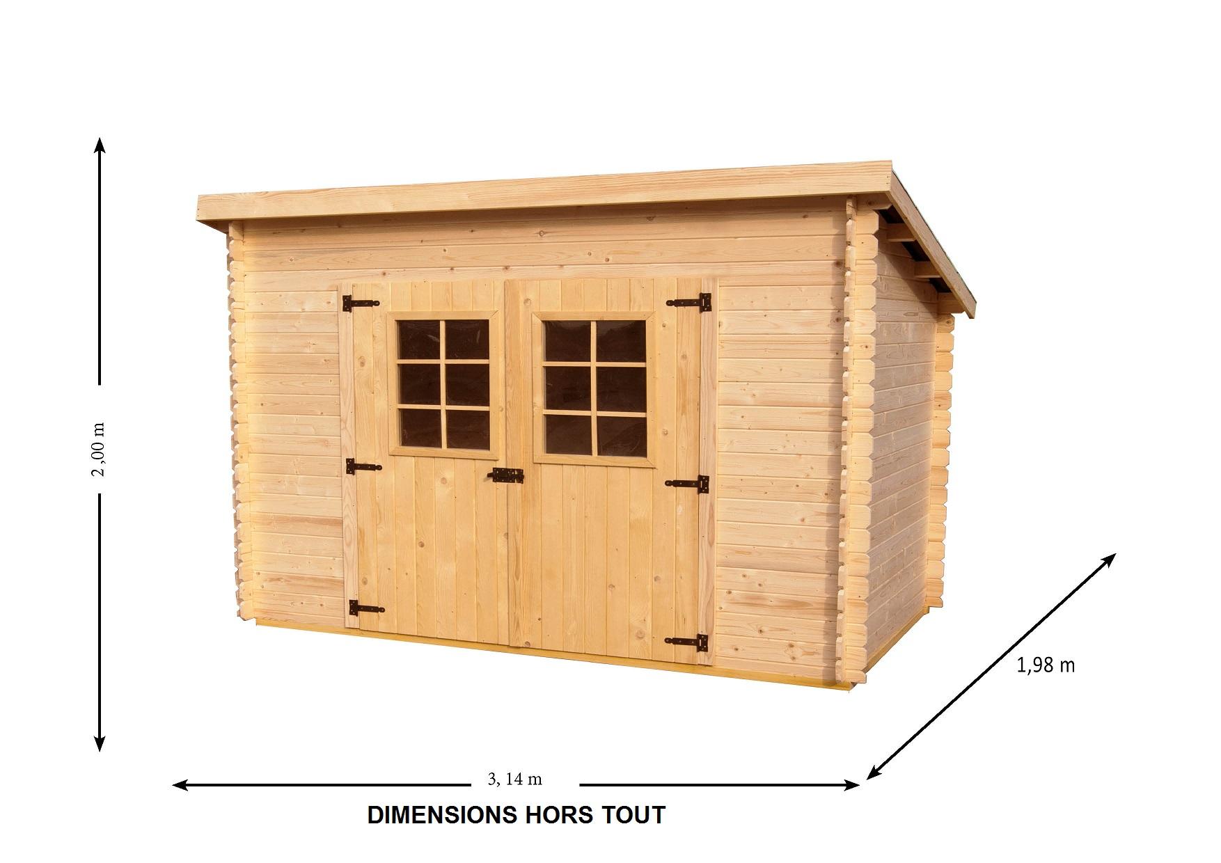 Abri jardin bois 5m2 pas cher Cabanes and co