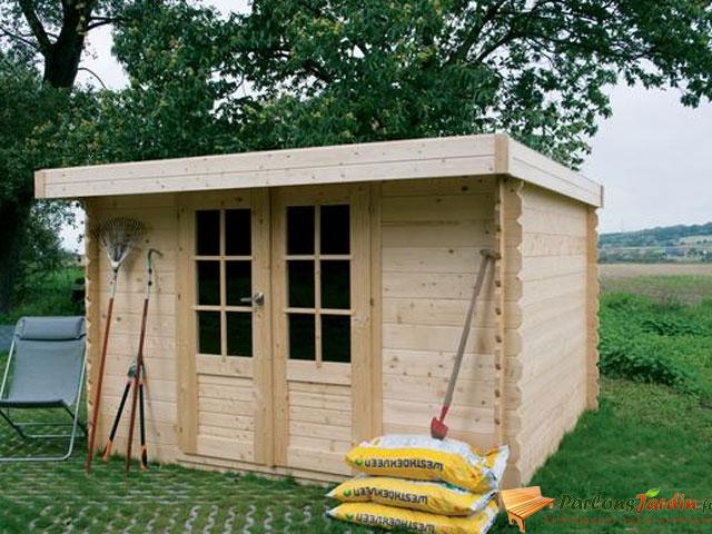 Abri de jardin bois 15m2 toit plat Cabanes abri jardin