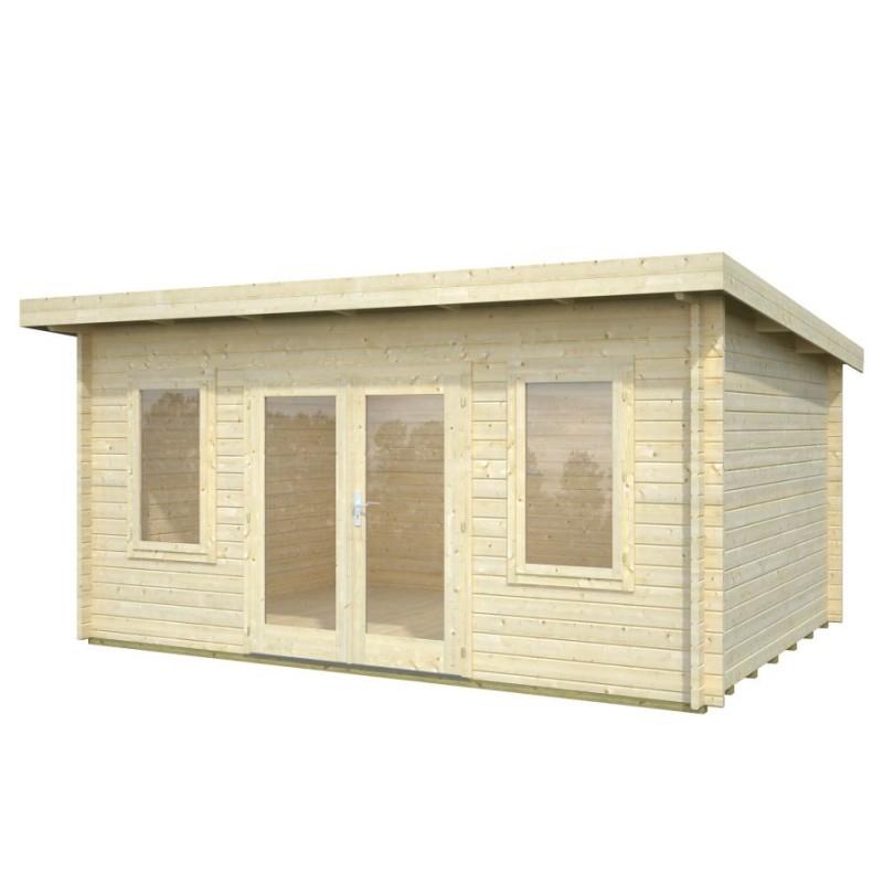 Abri de jardin toit plat Charente 1 en 44 mm 14 2m2