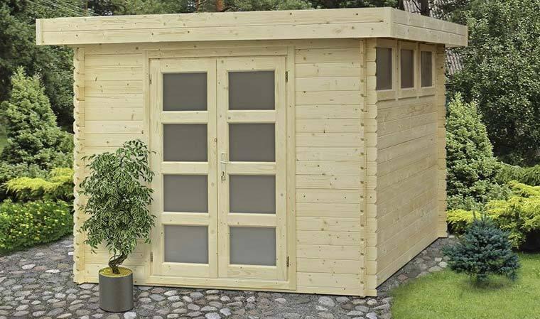 Abri de jardin en bois embot 7 5m2 avec plancher Moderna