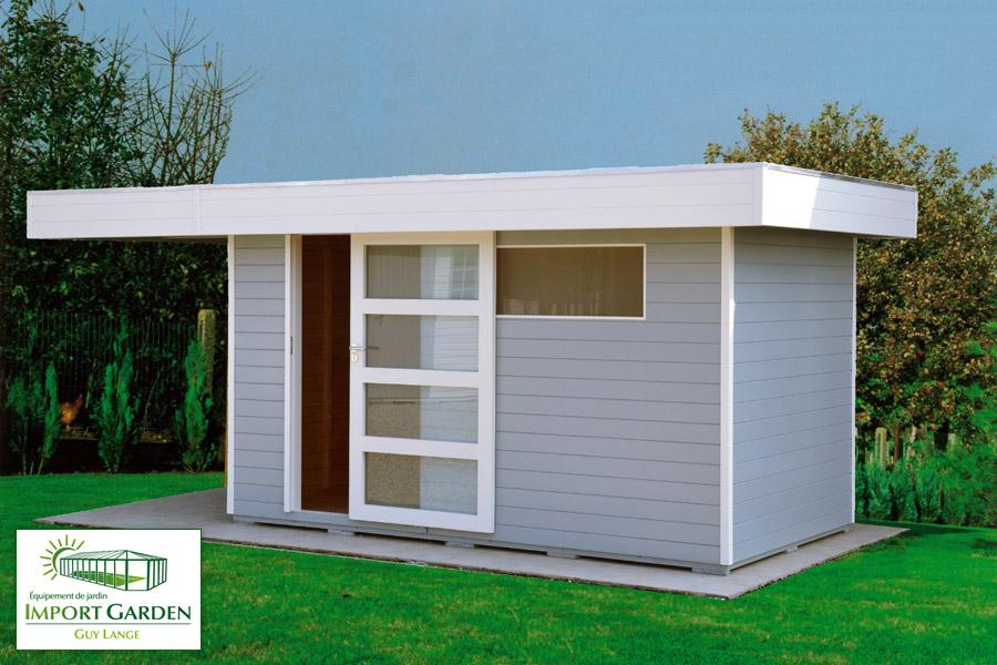 Abri de jardin toit plat au design contemporain