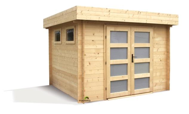 abri de jardin bois toit plat pas cher