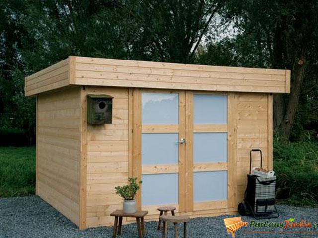 Abri de jardin en bois toit plat Odense 9 06m² Cabane