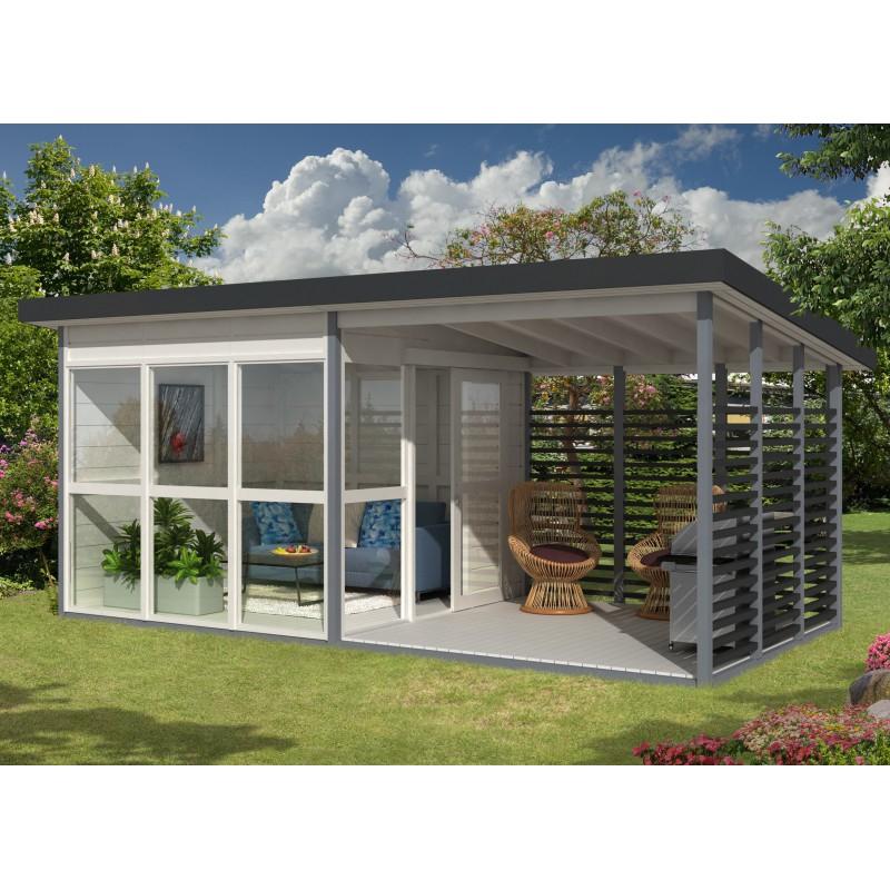 Abri de jardin contemporain 15 9m² panneaux 21mm EMMA