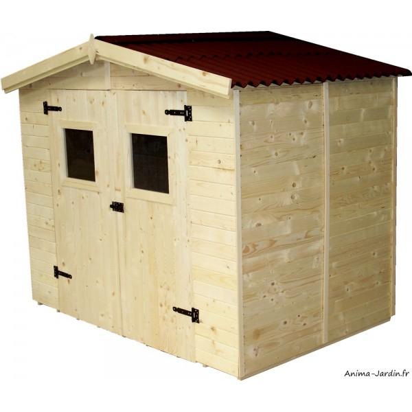 Abri de jardin en bois 16 mm 3 70 m² avec plancher