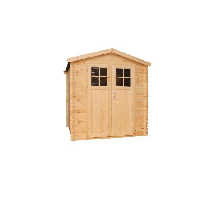Abri de jardin en bois 3 64m² Sapin FSC brut emboîté