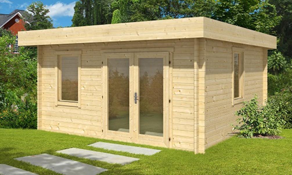 abri de jardin habitable toit plat