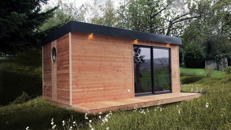 Cabane en bois habitable Mailleraye jardin