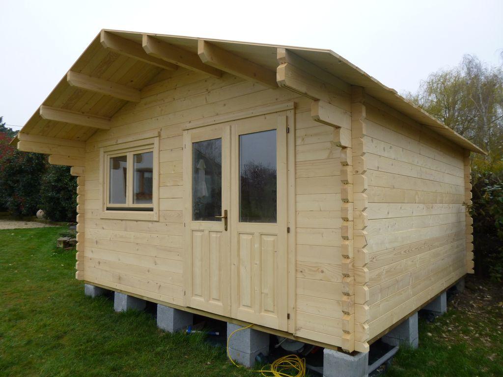 Chalet Habitable Paris 20m² en bois en kit sans mezzanine