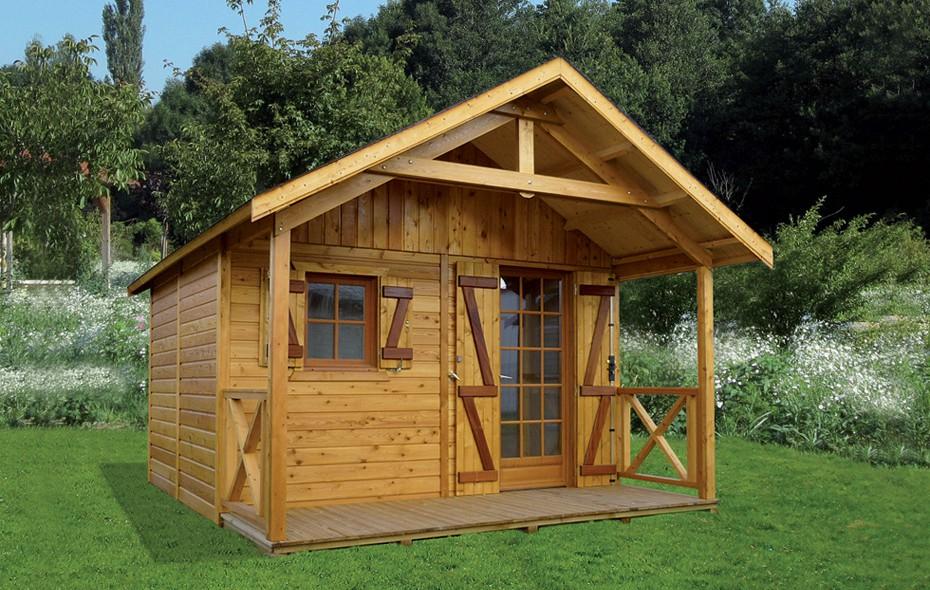 Abris de jardin construits en ossature bois