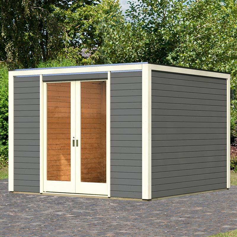 Abri jardin toit plat pvc