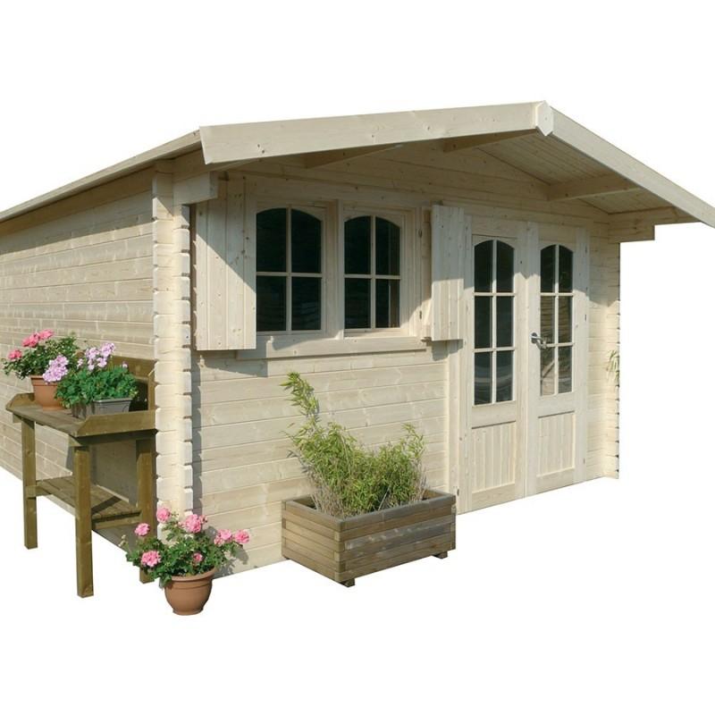 Abri de jardin en bois emboîté SOLID RIGNITZ 16 22m²