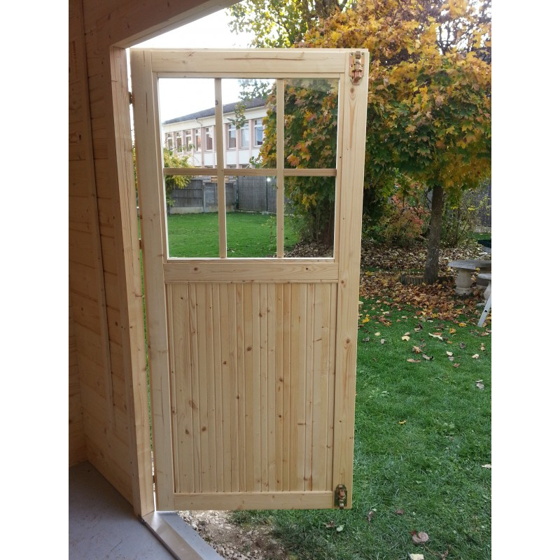 Abri de jardin en bois massif 28mm 7 09m² avec toit