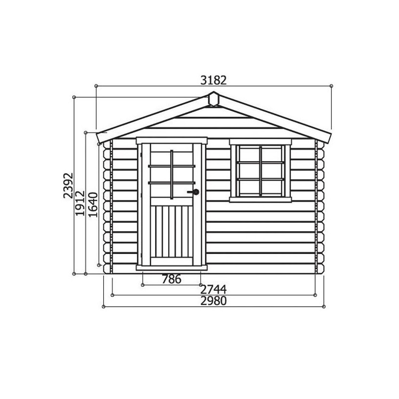 Abri de jardin Sologne Solid 28 mm 8 88 m² 298x298 cm