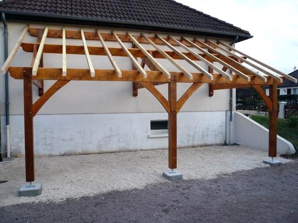 Abri Terrasse Bois En Pas Construire Auvent De Terrasse En