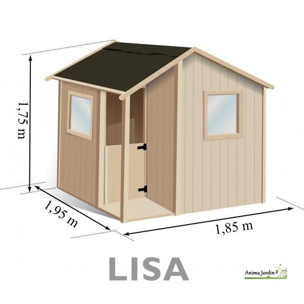 Maisonnette enfant en bois Lisa chalet abri achat pas