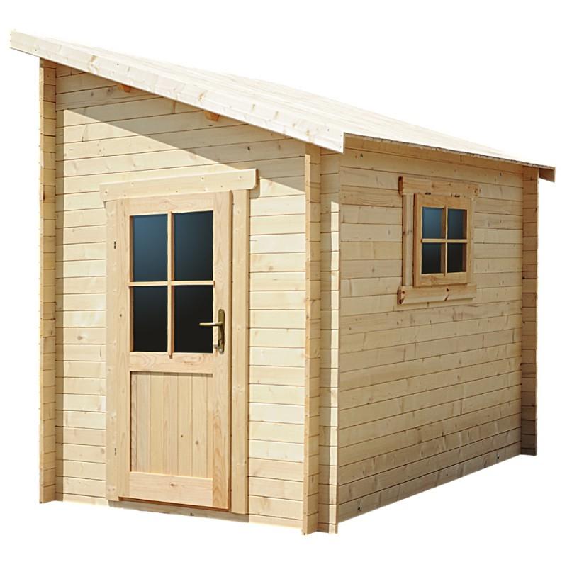 Abri adossé 5 92m² PLUS en bois massif 28mm Gardy Shelter