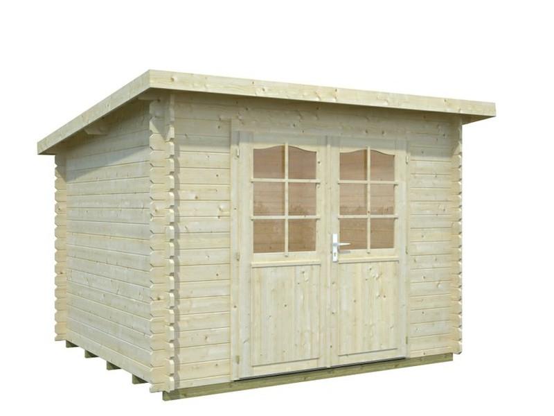 Abri de jardin bois toit monopente Mary 28 mm 6 48 m2