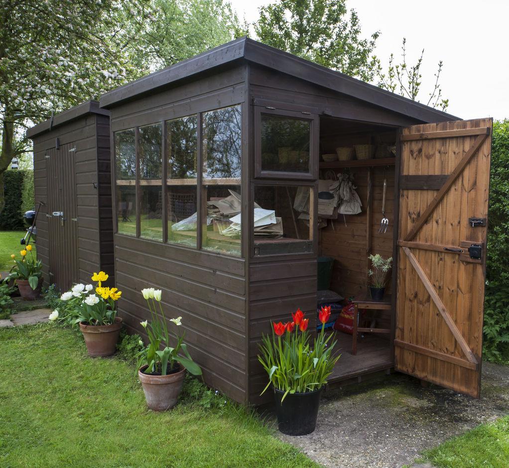 Abri de jardin monopente choix et prix Ooreka