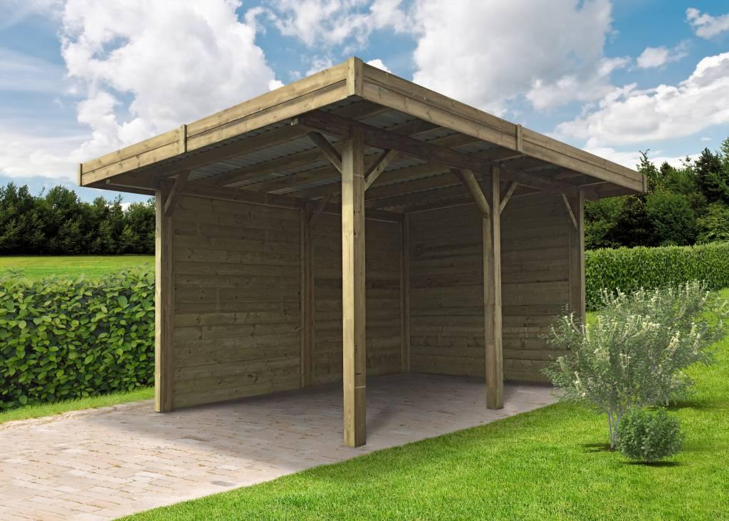 abri de jardin bois ouvert