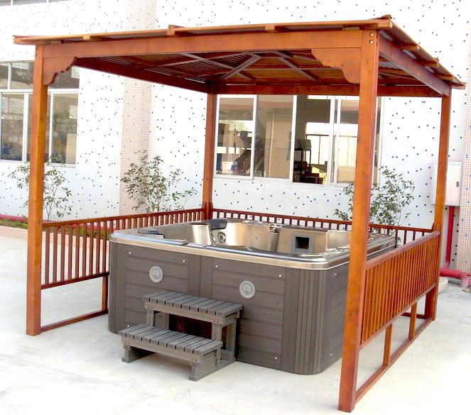 Abri Pour Spa LANCIANO Abri pour spa en pin de