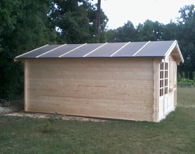 Abri de jardin en bois de 20 m²