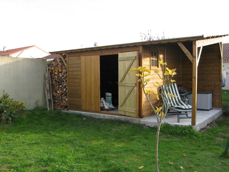 Abri de jardin bois sur mesure 317x311 auvent317x152 6 77