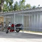 Abri Moto Bois Abri Vélos En Tôle Avec Boiserie Modulable