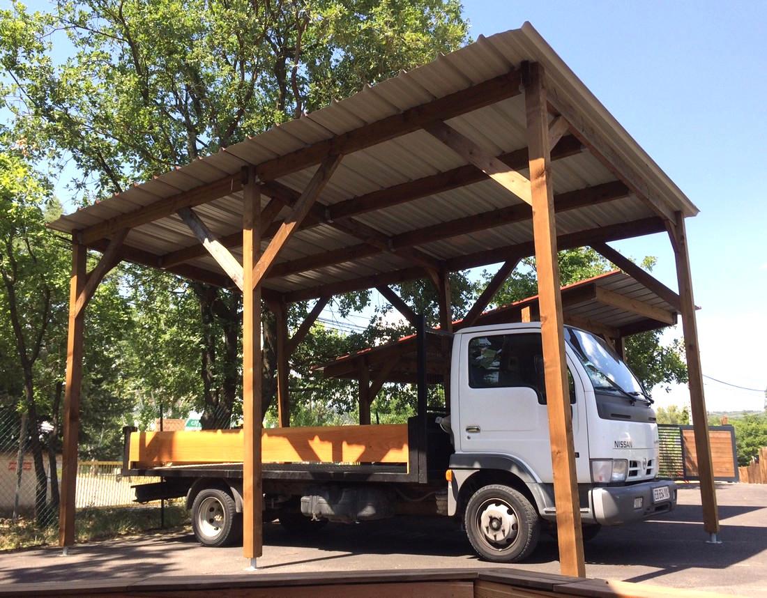 Abri Pour Bois Carport Adoss Pour Camping Car Le Carport Campingcar