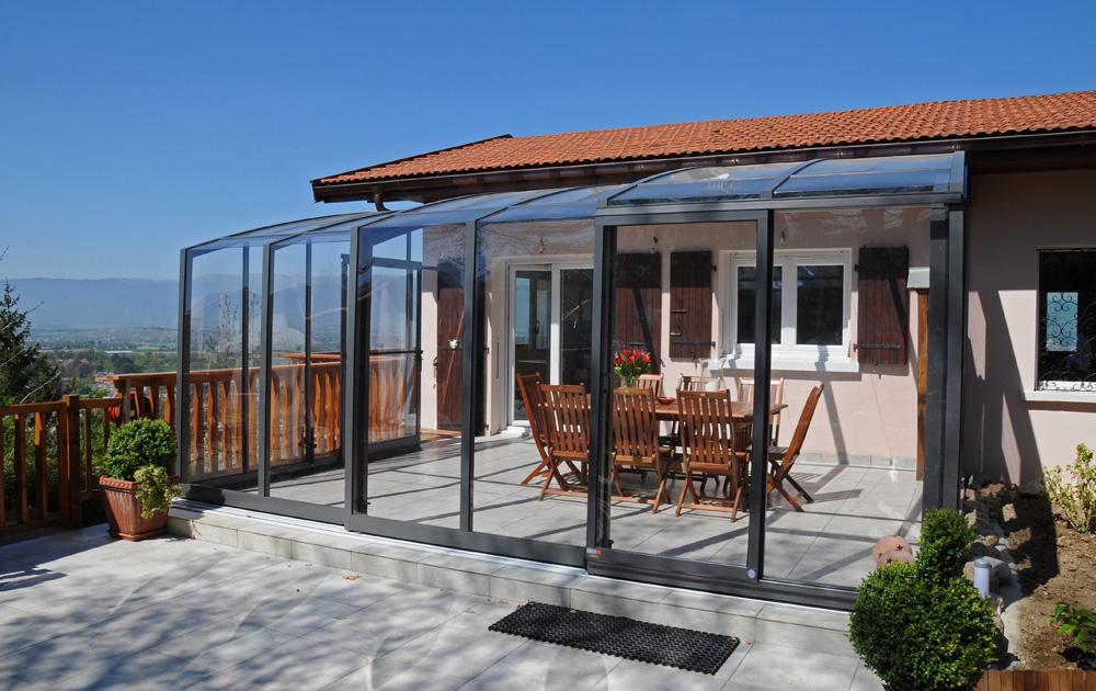 Abri terrasse coulissant et rétractable VERANDREAM