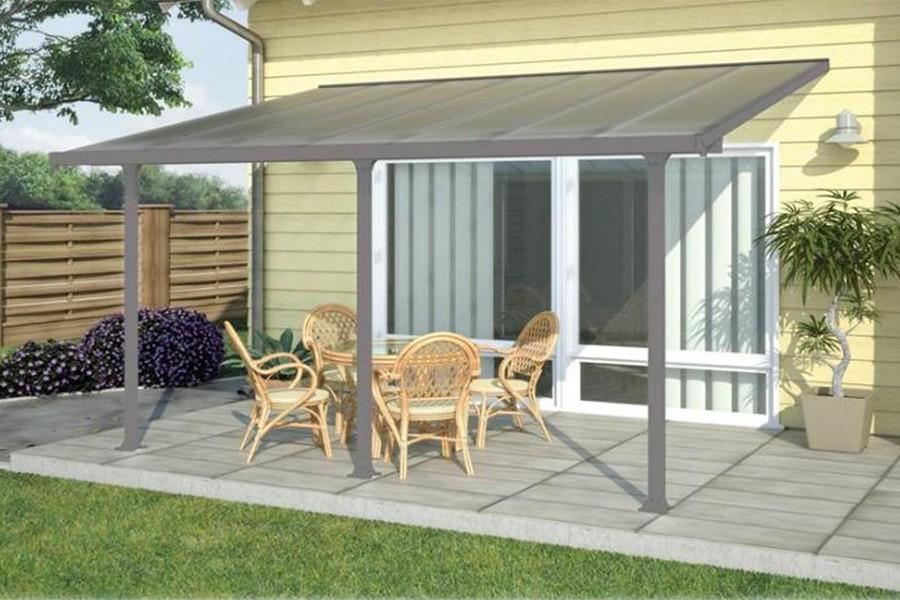 Abri Pour Terrasse toit Terrasse Auvent 4 M Jardin Couvert