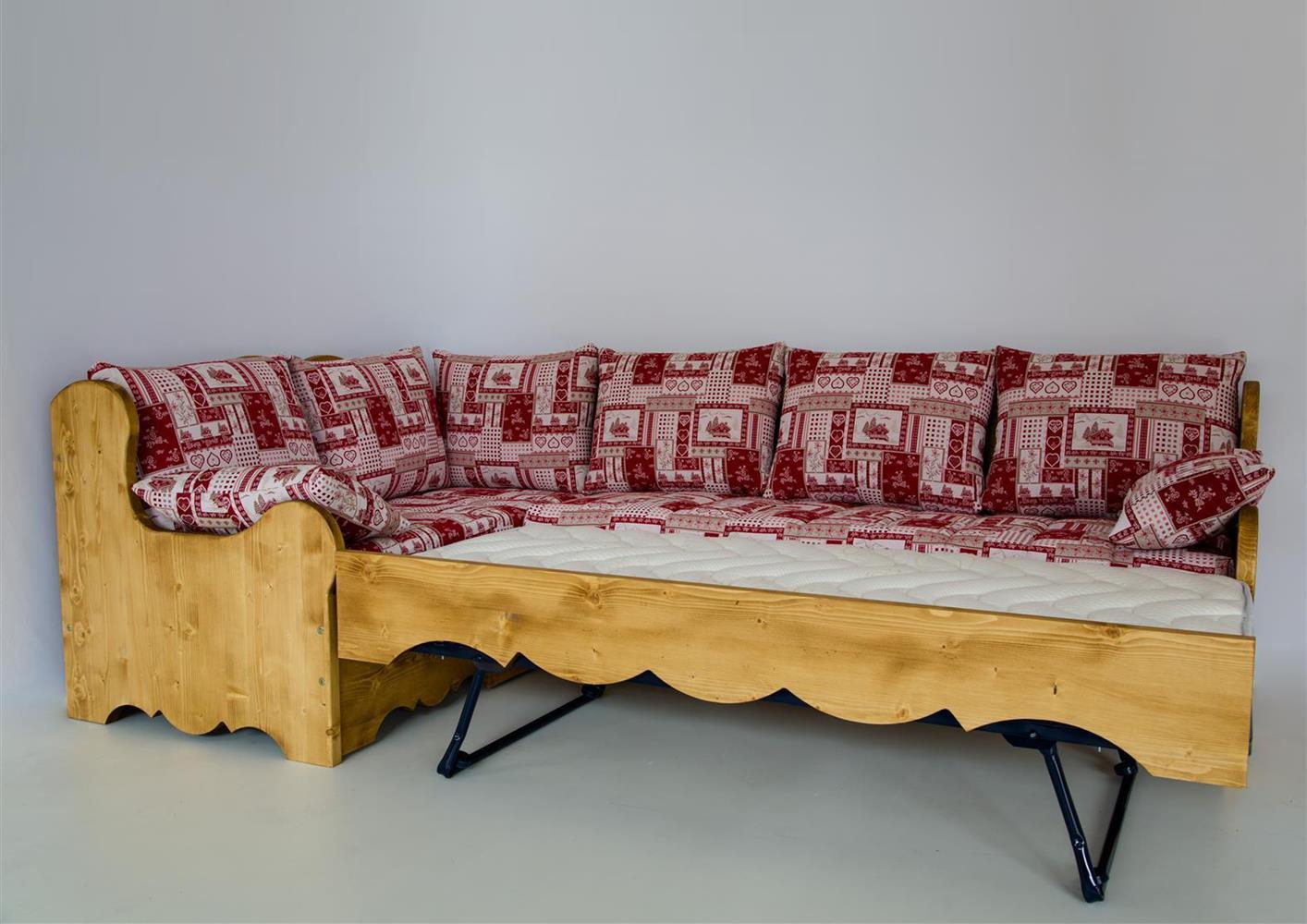 Acheter votre canapé d angle avec couchage style montagne